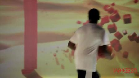 篮球少年与3D投影篮球场秀-火米互动