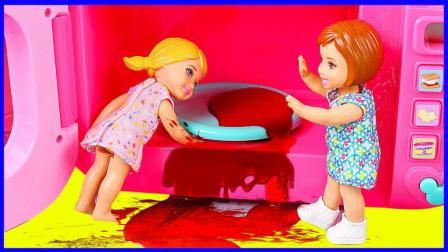 芭比娃娃医护工具组合玩具试玩 爱丽儿公主手部受伤卡通动画故事 小伶玩具 火影忍者