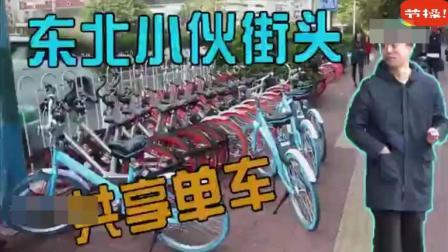 东北网红扫别人在骑的共享单车, 作死差点被打