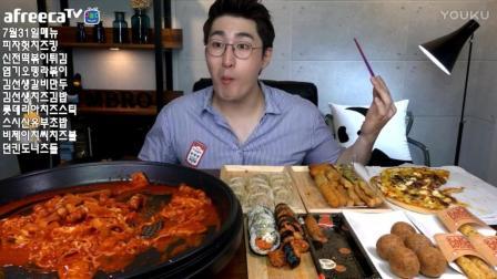 韩国吃播鱼饼拉面炒年糕芝士披萨美食_207