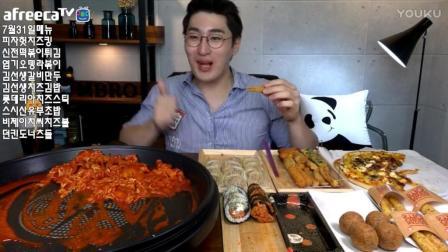 韩国吃播鱼饼拉面炒年糕芝士披萨美食_231