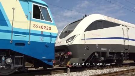现场实拍: 广州铁路局长沙车务段捞刀河火车站火车出站