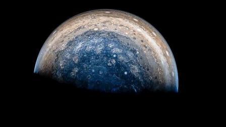 4K超高清-来自朱诺号木星探测器所拍摄的木星细节