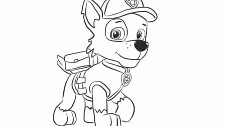 汪汪队立大功之可爱的小狗简笔画 宝宝轻松学画画