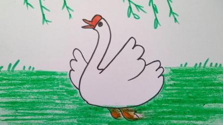 二年级美术上册第11课儿歌变画鹅鹅鹅微课