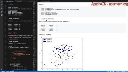 ApacheCN 机器学习实战 第5章 Logistic回归 2.案例: 使用Logistic回归在数据集上的分类