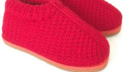 巧手女工编织坊第十五集 圈织中邦棉鞋教学视频毛线棉鞋编织视频教程