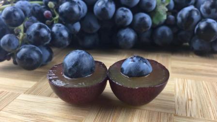"""长在葡萄树上的""""蓝莓葡萄"""", 外形和蓝莓非常相似, 一公斤30多元!"""