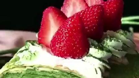 抹茶提拉米苏草莓蛋糕, 营养好滋味!
