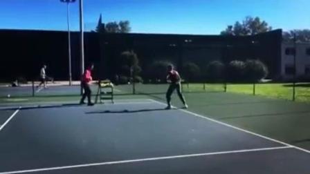 海特网球教学-西班牙精英网球-底线正手上步击球