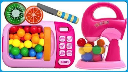 七彩水果神奇烤箱冰冻果冻制作 亲子互动卡通动画扮家家玩具试玩 小猪佩奇 小伶玩具
