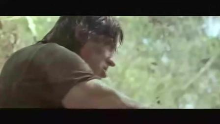 史泰龙经典作品《第一滴血4》精彩片段, 史泰龙一挺重机枪灭一支军队