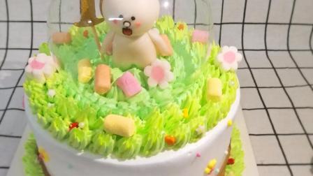 武汉生日蛋糕培训 美极了的 情景蛋糕制作视频 余香西点学校出品