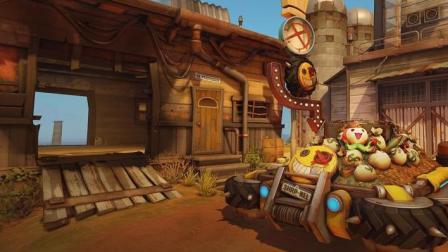 【榨菜解说】守望先锋新地图渣客镇 野猪与狂鼠的三轮车