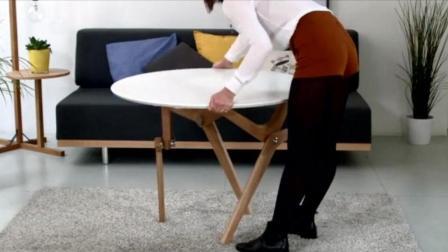 茶几1秒变餐桌, 这张桌子真实用!