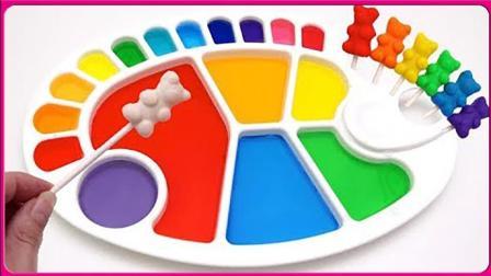 彩色调色板儿童玩具颜色学习 亲子手工熊出没扮家家玩具试玩 小伶玩具 奥特曼 小猪佩奇
