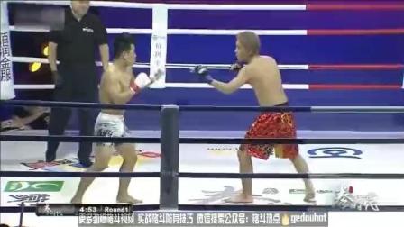 拳时代中日MMA格斗对抗赛 小将梁辉一回合KO日本选手南部优助