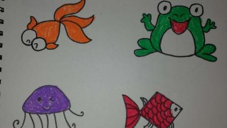 育儿宝宝儿童简笔画: 快速画出图案, 在家就可以教宝宝哦