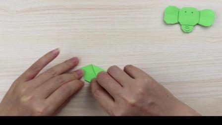 幼儿折纸手工, 小象的最新手工折法