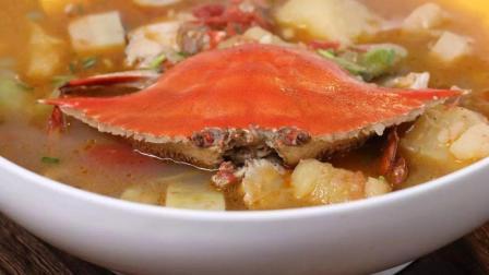 美食台 | 番茄煮梭子蟹, 意想不到好风味!