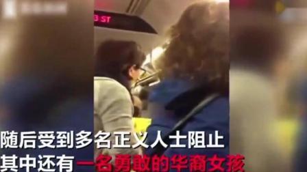 实拍: 华裔女子地铁中怒怼黑人妇女, 多国语言教其如何做人!