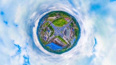 航拍, 美丽的冷水江VR360度全景 冷水江经济开发区