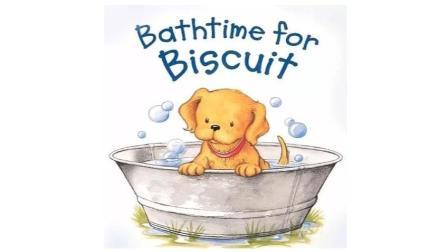 正好在家学-双语绘本故事-小饼干洗澡