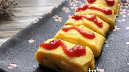 芝士鸡蛋的完美结合, 怎么吃都不胖的健身减脂早餐。芝士火腿面包香味, 超开胃! !