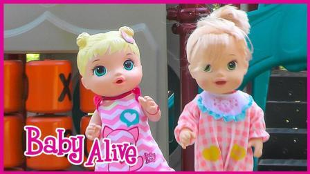 爱丽儿公主宝贝游乐场玩具试玩 亲子互动卡通玩具扮家家游戏 小伶玩具 小猪佩奇