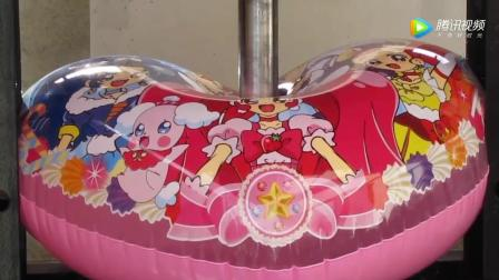 液压机对抗熊孩子的氢气球, 过程太过瘾