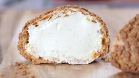 原来馅大皮薄的的泡芙是这样做的, 吃一口奶油在口中炸开, 这就是幸福的感觉啊