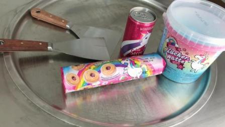 独角兽泰式炒冰淇淋卷, 没想到最后成品那么美!