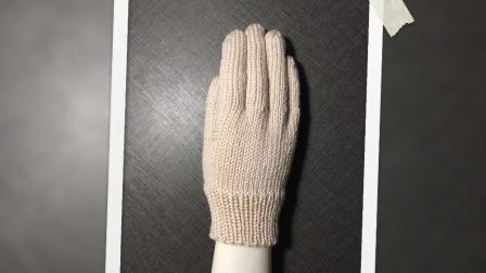 基础款五指手套的织法(下)