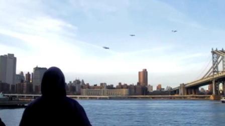 外国街头恶搞路人, 空中出现会飞的人