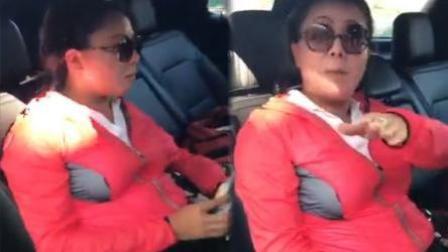 """司机看导航, 女子用""""外语""""怒斥司机"""