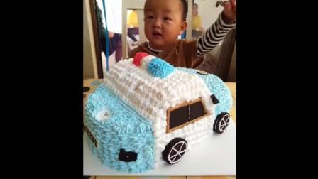 可爱宝宝吃小汽车蛋糕, 可爱极了