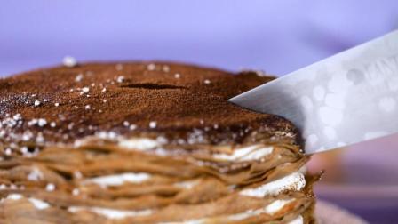 好食 | 一分钟学做提拉米苏千层蛋糕