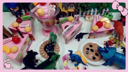 恐龙世界 小恐龙乐园节日派对 亲子益智手工 蛋糕DIY