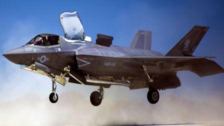 美国海军陆战队F-35B垂直短距起降战斗机-单机飞行表演