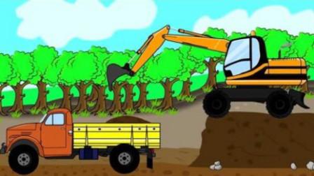 挖掘机视频表演大全 工程车 推土机 挖土机工作视频 汽车总动员动画片 极品越野车