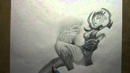 绘画lol蜘蛛女皇伊莉丝, 美丽的背后是无尽的黑暗陷阱