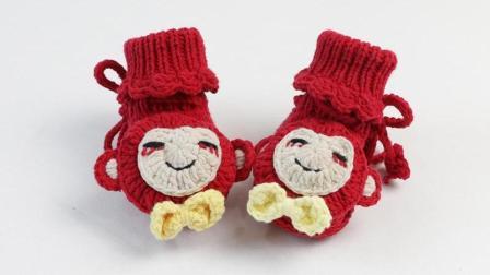 雅馨绣坊宝宝鞋编织视频第21集:宝宝高筒鞋小猴款上集花样编织集锦