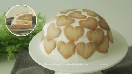 无需烤箱: 爱心饼干香蕉蛋糕