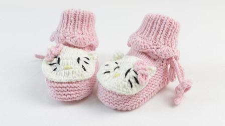 雅馨绣坊宝宝鞋编织视频第24集:宝宝高筒鞋小猫款编织教学视频