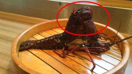 准备吃龙虾刺身的时候, 看到了这一幕, 决定不吃了!