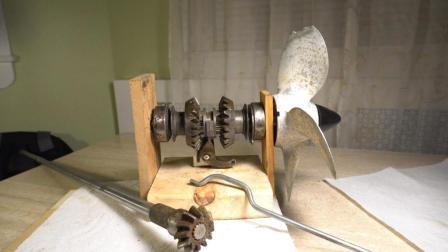 牛人用非金属自制蒸汽机