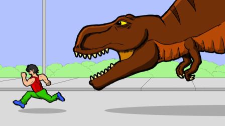 原创动画《恐龙的宿敌》第4集:房顶怪的战斗力