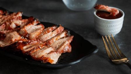 正宗蜜汁烤叉烧, 不用去香港也能吃到, 鲜嫩多汁, 外皮焦酥, 大口吃肉不塞牙!