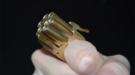 世界上最小的枪, 只有指甲盖大, 看起来很可爱!