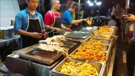 街头美食: 马来西亚环线夜市烤墨鱼